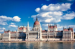 Budapest parliament. Budapest Pariiament building on the embankment of the Danube river, Hungary Stock Photo