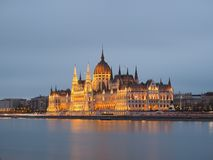 Budapest Parliament in Hungary At Night Stock Images