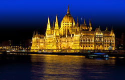 Budapest parliament sightseeing Royalty Free Stock Photo