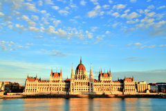 Budapest Parliament at Sunset. Hungary Stock Photography