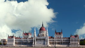 Budapest - parliament, time lapse stock video