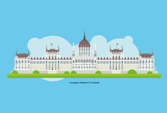 Budapest Parliament Vector, Hungary Stock Photography