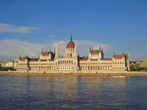 Budapest Parliament, view across the Danube Royalty Free Stock Photos
