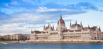 Budapest parliament view Royalty Free Stock Photo