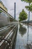 Budapest in pioggia Fotografie Stock Libere da Diritti
