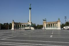 Budapest, place of the hereos royalty free stock photo