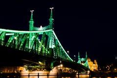 Budapest, ponticello di libertà Fotografia Stock Libera da Diritti