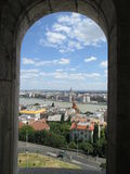 Budapest. Portal, panorama, town, city Stock Images