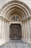 Budapest - portal on Saint Matthew cathedral Stock Image