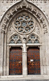 Budapest - portal on Saint Matthew church Royalty Free Stock Photography