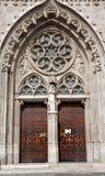 Budapest - portal on Saint Matthew church Royalty Free Stock Photography