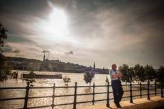 Budapest powodzie fotografia royalty free