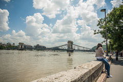 Budapest powodzie zdjęcie stock