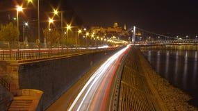 Budapest przy noc Zdjęcia Royalty Free