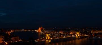 Budapest przy nocą Zdjęcie Royalty Free