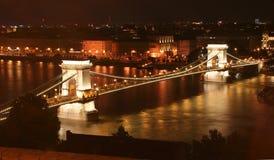 Budapest, puente de cadena Imágenes de archivo libres de regalías