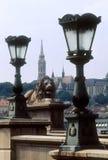 Budapest, puente de cadena Imagen de archivo libre de regalías