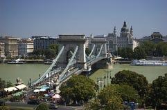 Budapest - puente de cadena Imágenes de archivo libres de regalías