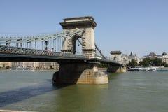 Budapest, puente de cadena foto de archivo libre de regalías