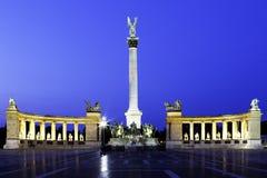 Budapest quadrata degli eroi Immagine Stock
