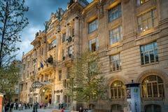 Budapest que a capital de Hungria se cruzou pelo Danube River fotografia de stock royalty free