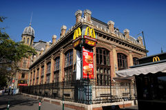 Budapest railway station -McDonald fast food Stock Image