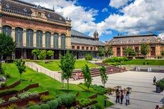 Budapest railway terminal Stock Photography