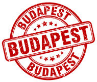 Budapest red grunge round stamp Royalty Free Stock Photography