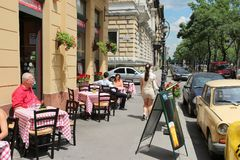 Budapest restaurant royalty free stock images