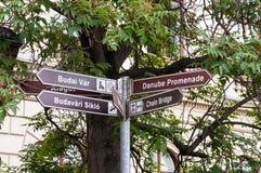 Budapest riktningar royaltyfri foto