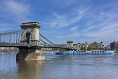 Budapest river boat Royalty Free Stock Image