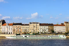 Budapest River Waterfront Royalty Free Stock Photos