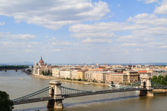 Budapest riverbank Royalty Free Stock Photos