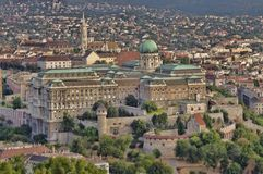 Budapest Rotal palace. Buda castle (Royal Palace) in Budapest, Hungary Royalty Free Stock Image