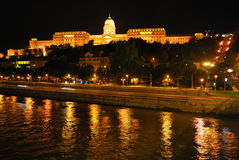Budapest. Royal Palace at night Royalty Free Stock Photos