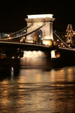 Budapest S Chain Bridge Stock Image
