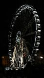 Budapest`s Ferris Wheel. Lighted ferris wheel in Budapest at night Royalty Free Stock Photo