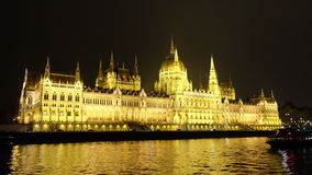 Budapest' s Parliament. The famous landmark of Budapest Royalty Free Stock Photo