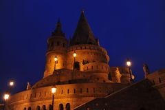 Budapest - scena di notte Fotografia Stock