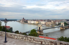 Budapest scene. Scene of Budapest from a walkway (Hungary Royalty Free Stock Image