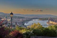 Budapest scene at dusk Royalty Free Stock Images