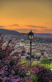 Budapest scene at dusk Stock Image