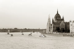 Budapest in sepia Royalty Free Stock Images