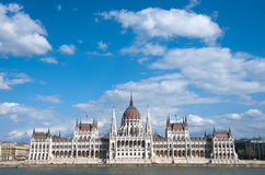 Budapest: Sightseeing Boat And Hungarian Parliament Building Stock Photo