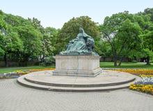 budapest skulptur Arkivbilder