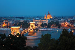 Budapest Skyline at night Royalty Free Stock Photo