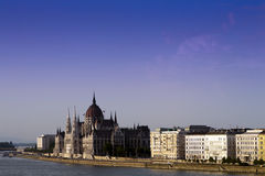 Budapest skyline, the Parliament. Royalty Free Stock Photography