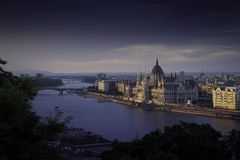 Budapest. Skyline with Parliament, Hungary Stock Photography