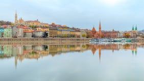 Free Budapest Skyline, Reflection On Danube River, Hungary Stock Photo - 169267960