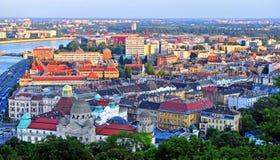Budapest skyline on sunset. Capital of Hungary Royalty Free Stock Images